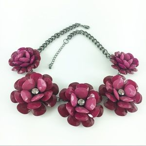NY&Co Ombré Rosette Floral & Rhinestone Statement